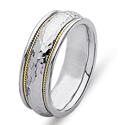 18 Kt Yellow Gold & Platinum Wedding Ring