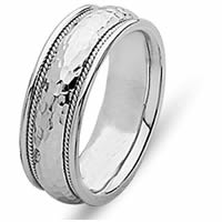 Item # 21516W - 14 Kt White Gold Wedding Ring