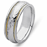 Item # 21516PE - 18 Kt Yellow Gold & Platinum Wedding Ring