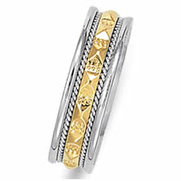 Item # 21523E - 18K Two-Tone Wedding Band