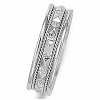 Item # 21523WE - 18K White Gold Wedding Band