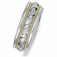 Item # 21526PE - Platinum & 18 kt Wedding Ring