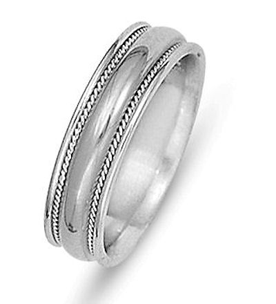 Item # 21528PP - Wedding Ring, Platinum View-1