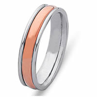 Item # 21529PE - Wedding Ring, Platinum & 18 Kt Rose Gold