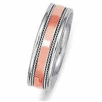 Item # 21530PE - Platinum & 18 kt Rose Gold Wedding Ring