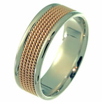 Item # 21531PE - Wedding Ring, Platinum & 18 Kt Rose Gold
