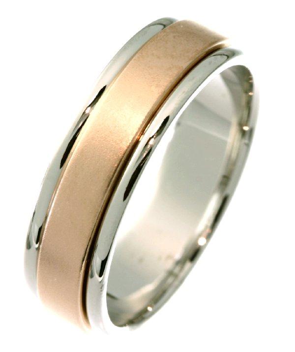 21532PE Wedding Ring Platinum Amp 18 Kt Rose Gold
