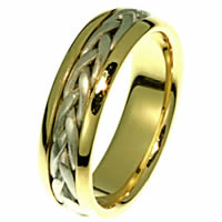 Item # 21583PE - Wedding Ring, Platinum & 18 kt Yellow Gold