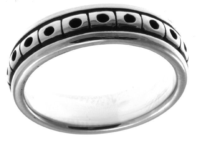 Item # 21623WE - 18K white Gold Wedding Band. View-3
