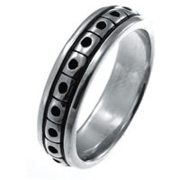 Item # 21623WE - 18K white Gold Wedding Band.