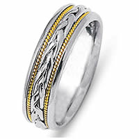 Item # 21646PE - Platinum & 18 Kt Yellow Gold Wedding Ring