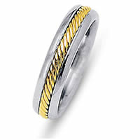 Item # 216481PE - Platinum and 18 Kt Yellow Wedding Ring