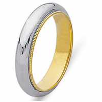 Item # 216885PE - Platinum and 18 Kt Yellow Gold Wedding Band