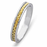Item # 21735E - Wedding Band, 18 Kt Two-Tone