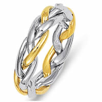 Item # 21925PE - Wedding Band, 18 Kt Yellow Gold and Platinum