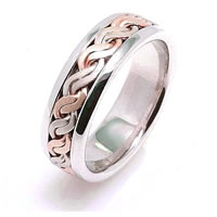 Item # 221709PE - Hand Crafted Wedding Band