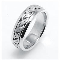 Item # 221709WE - 14 K Hand Made Wedding Ring