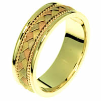 Item # 22206E - 18 Kt Tri-Color Hand Crafted Ring