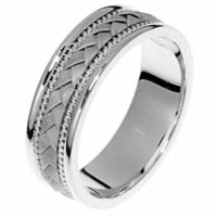 14 Kt White Gold Hand Crafted Ring