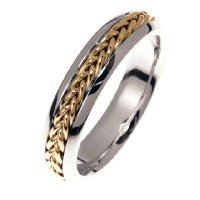 Item # 22225 - 14 kt White and Yellow Gold Wedding Band