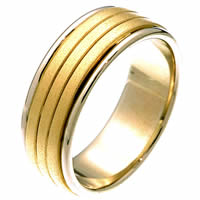 Item # 22481PE - Platinum & 18 Kt Gold Wedding Ring