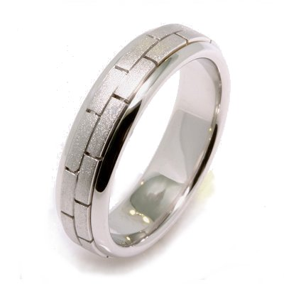 Plain Gold Wedding Bands on 18k White Gold Wedding Band   Item 22659we By Weddingbands Com