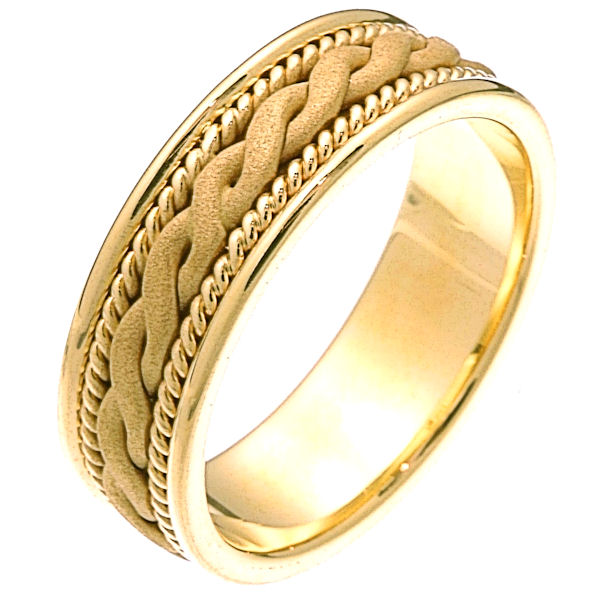 14 Kt Gold Braided Wedding Band
