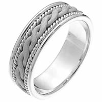 Item # 230661PP - Platinum Braided Wedding Band