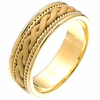 Item # 230661 - 14 Kt Gold Braided Wedding Band