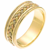 Item # 242461E - Tri-Color Braided Wedding Ring