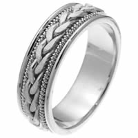 Item # 250261PP - Platinum Hand Crafted Wedding Ring