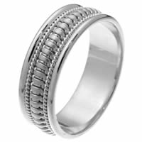 Item # 257261PP - Waves, Hand Crafted Wedding Ring