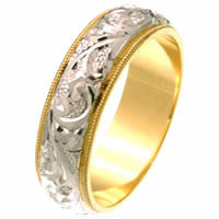 Item # 2616576 - 14 Kt Two-Tone Hand Carved Ring