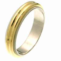 Item # 26871PE - Two Dome Wedding Ring
