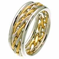Item # 28781PE - Platinum & 18 Kt Gold Wedding Ring