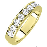 Item # 3001011E - 18K Diamond Wedding Band