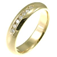 Item # 30104E - 18K Diamond Wedding Band