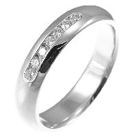 Item # 30104W - 14K Diamond Wedding Band