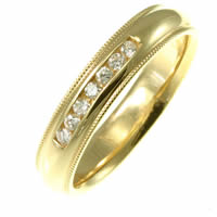 Item # 30204E - 18K Diamond Wedding Band