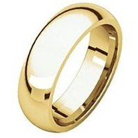 Item # 372074E - Yellow Gold Plain 7 mm Wide Comfort Fit Wedding Band