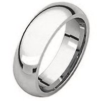 Item # 372074W - White Gold Plain 7mm Comfort Fit Wedding Band