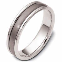 Item # 46799TP - Titanium & Platinum Classic Wedding Ring