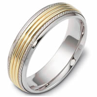 Item # 46833PE - Platinum & 18kt Classic Wedding Ring