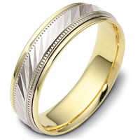 Item # 46836NPE - Platinum & 18kt Classic Wedding Ring