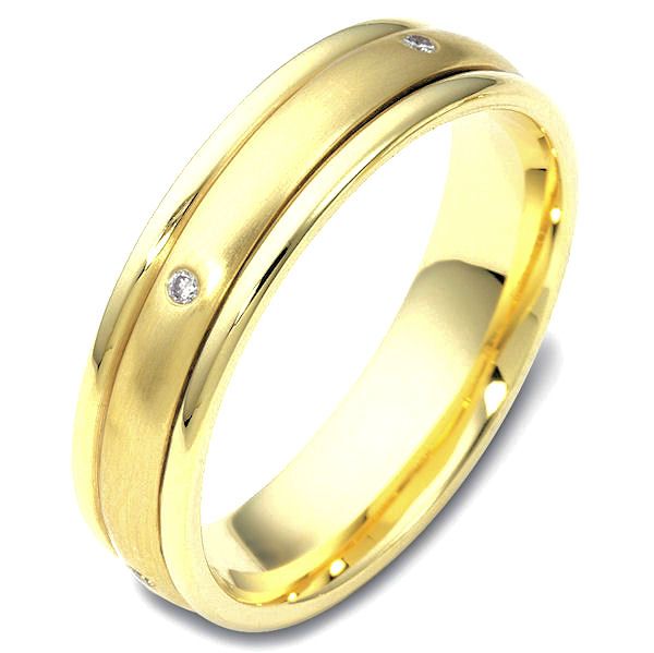 Item # 46934E - 18K Gold Spinning DiamondWedding Band View-1