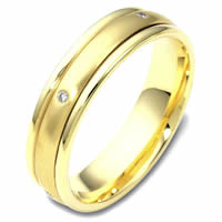 Item # 46934E - 18K Gold Spinning DiamondWedding Band