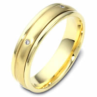 Item # 46934 - 14K Gold Spinning DiamondWedding Band