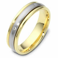 Item # 46935PE - Platinum-18K Gold Spinning Wedding Band