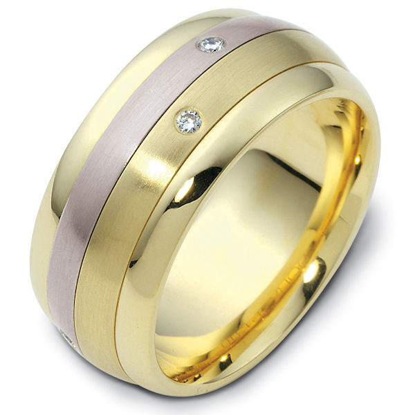 14K Gold Spinning Diamond Wedding Band