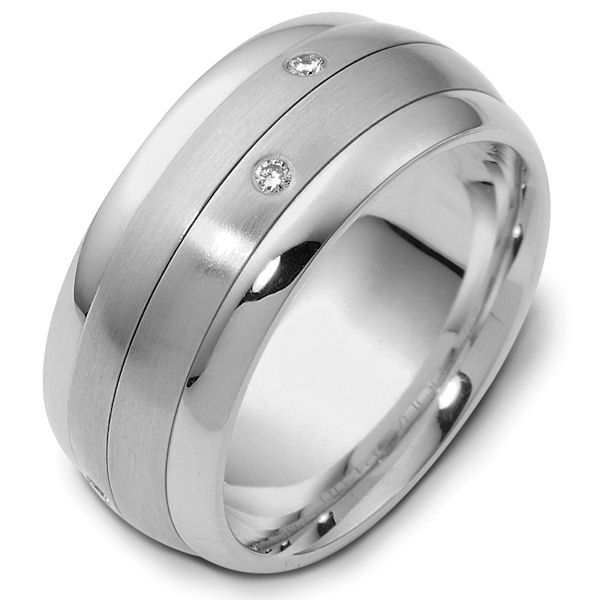 Platinum Spinning Diamond Wedding Ring